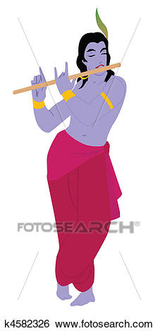 Lord Krishna Playing Flute-Lord Krishna playing flute-7