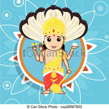 Lord Vishnu - A Hindu God - csp28567603