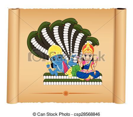 Lord Vishnu With Mata Laxmi - Csp2856884-Lord Vishnu with Mata Laxmi - csp28568846-9