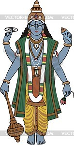 Vishnu - royalty-free vector clipart
