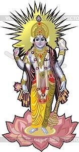 Vishnu - Vector Clip Art-Vishnu - vector clip art-19