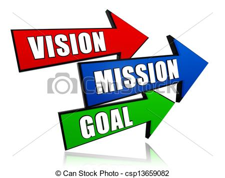 ... vision, mission, goal in arrows - vision, mission, ...
