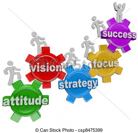 ... Vision Strategy Gears People Rise to Achieve Success - A..