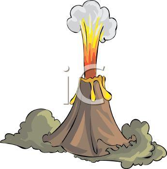 Volcano Clip Art-Volcano Clip Art-9