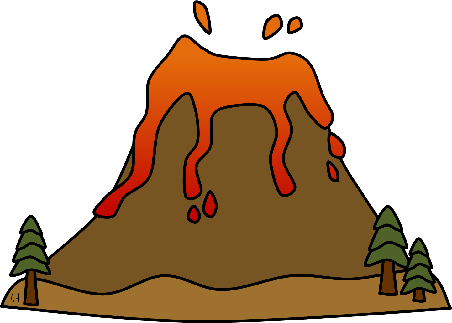 volcano clipart - Volcano Clip Art