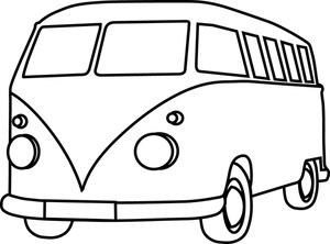 Volkswagen Bus Clipart Image