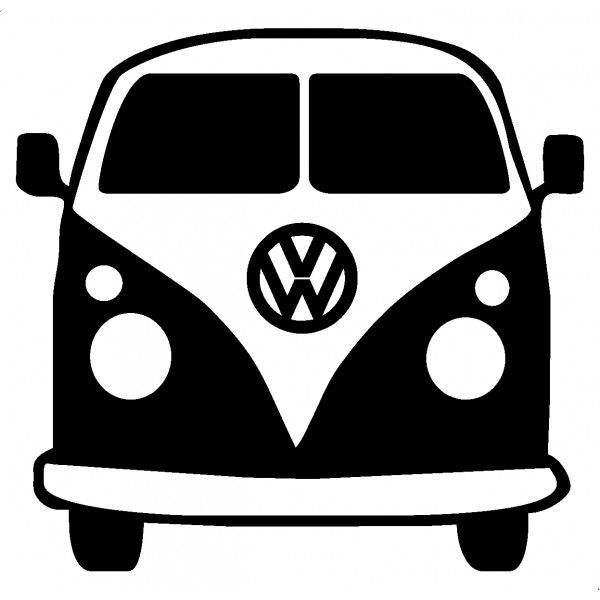 Black and white volkswagen be