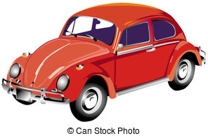 . ClipartLook.com Red Volkswagen - Illustration of a red Volkswagen on a white.