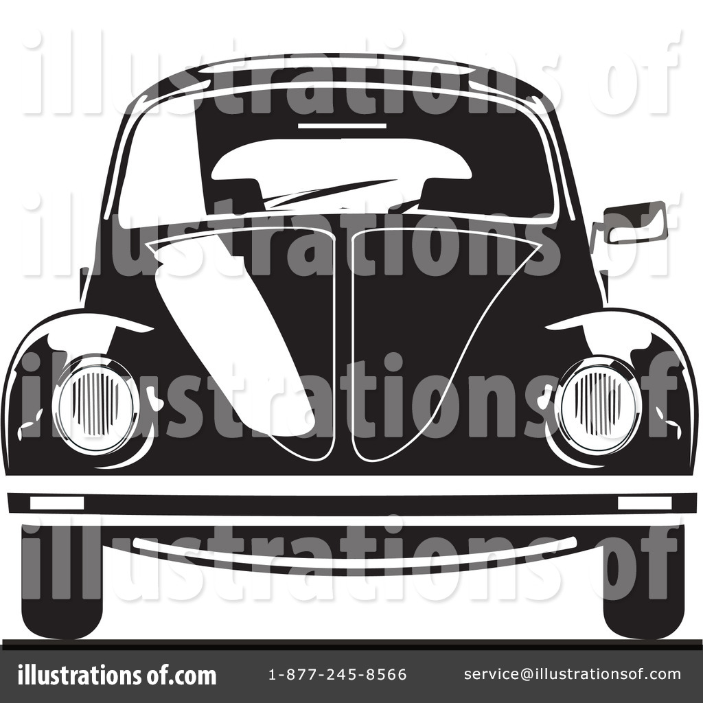 Royalty-Free (RF) Volkswagen Clipart Illustration #26478 by David Rey