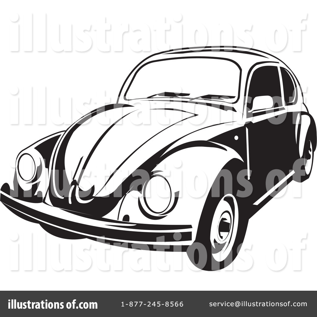 Royalty-Free (RF) Volkswagen Clipart Illustration #26483 by David Rey