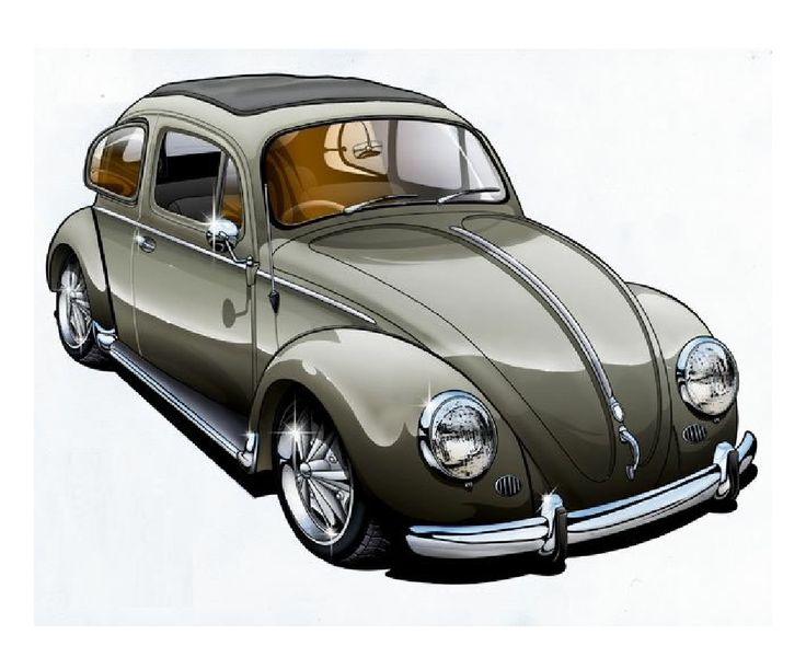 Vw Beetles, Vw Bugs, Beatles, Volkswagen, Truck, Clip Art, Vehicles, Car  Drawings, Personalized Mugs