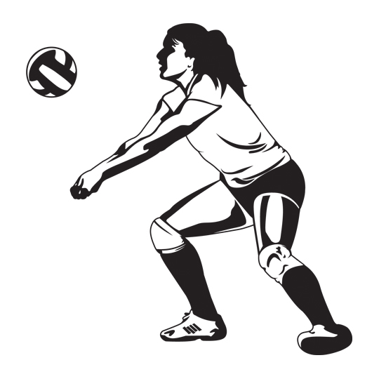 Volleyball Player Hitting Silhouette Clipart Panda Free Clipart