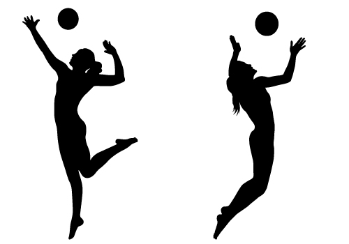 Volleyball Player Hitting .