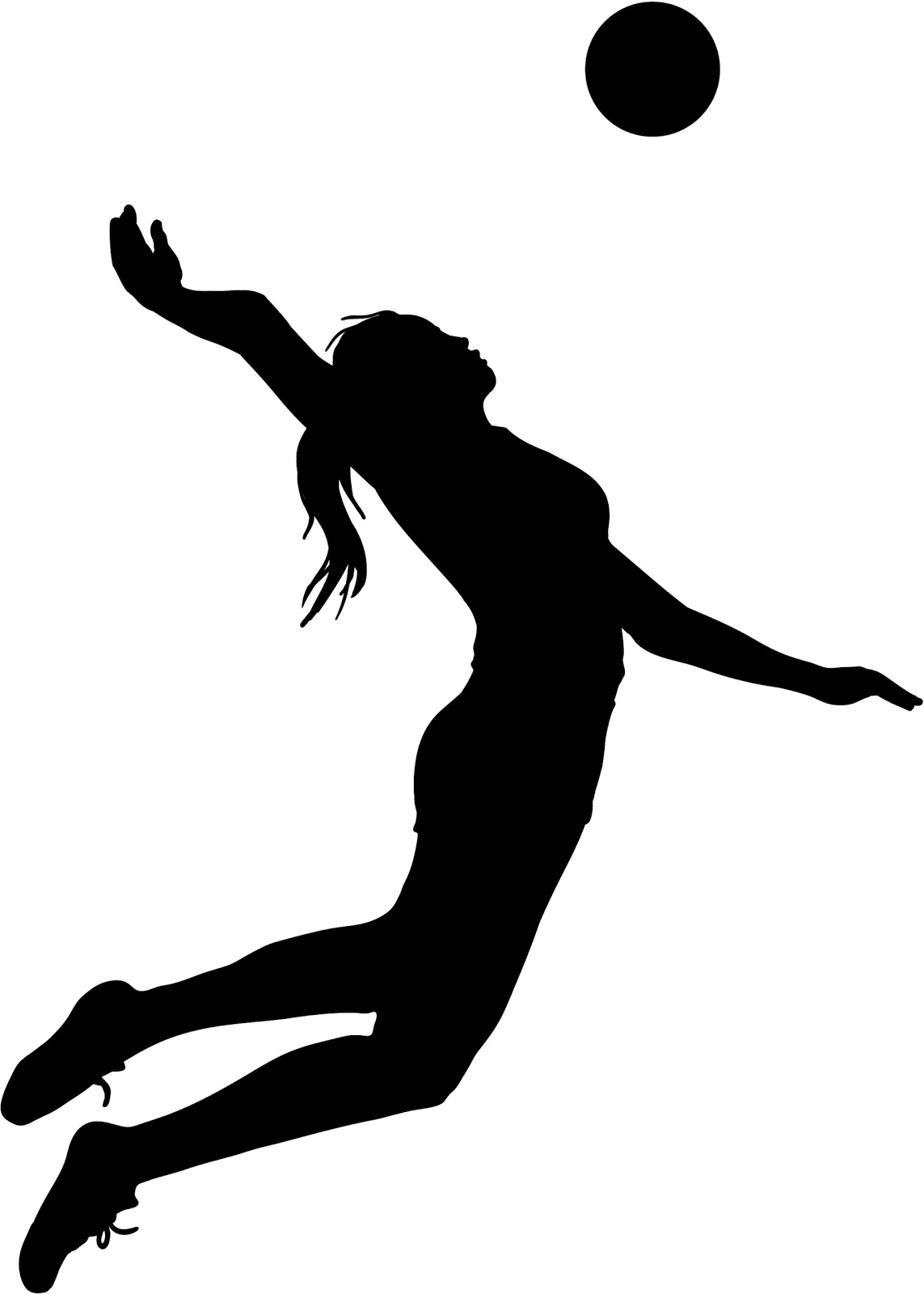Volleyball Player Silhouette .