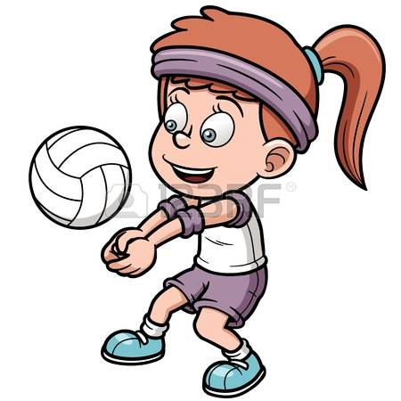 volleyball player: Vector illustration of Young volleyball player Illustration
