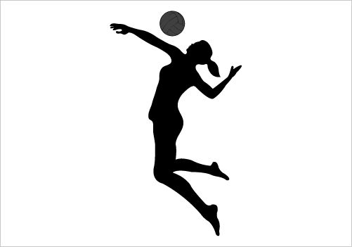 Volleyball Silhouette .