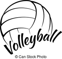 ... Volleyball with Fun Text - Stylized vector illustration of a.