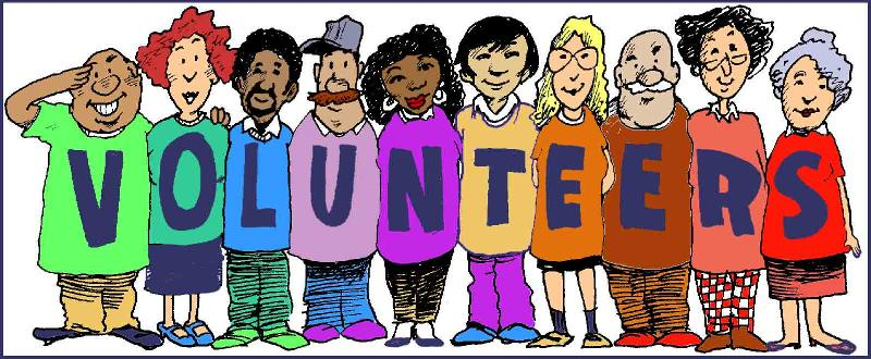 Volunteers clip art black and white free clipart