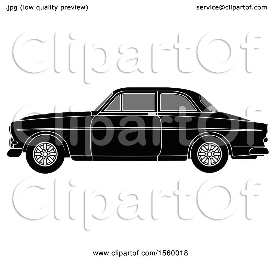 Clipart of a Grayscale Classic Volvo Car-Clipart of a Grayscale Classic Volvo Car - Royalty Free Vector Illustration  by Lal Perera-13