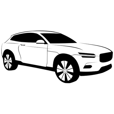 Lüks siyah u0026 beyaz Volvo XC Coupe araba