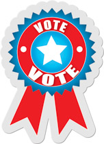 Vote Sticker Clipart Without Shadow Size: 132 Kb