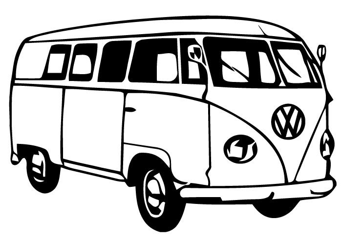 51 Vw Bus Clipart