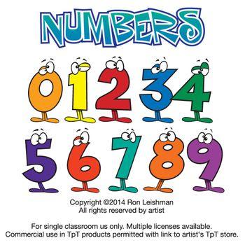 Wacky Cartoon Numbers Clipart-Wacky Cartoon Numbers Clipart-14