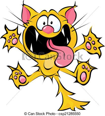 Wacky Hair Day Clip Art. Crazy Cat Carto-Wacky Hair Day Clip Art. Crazy Cat Cartoon Spitting And ..-16