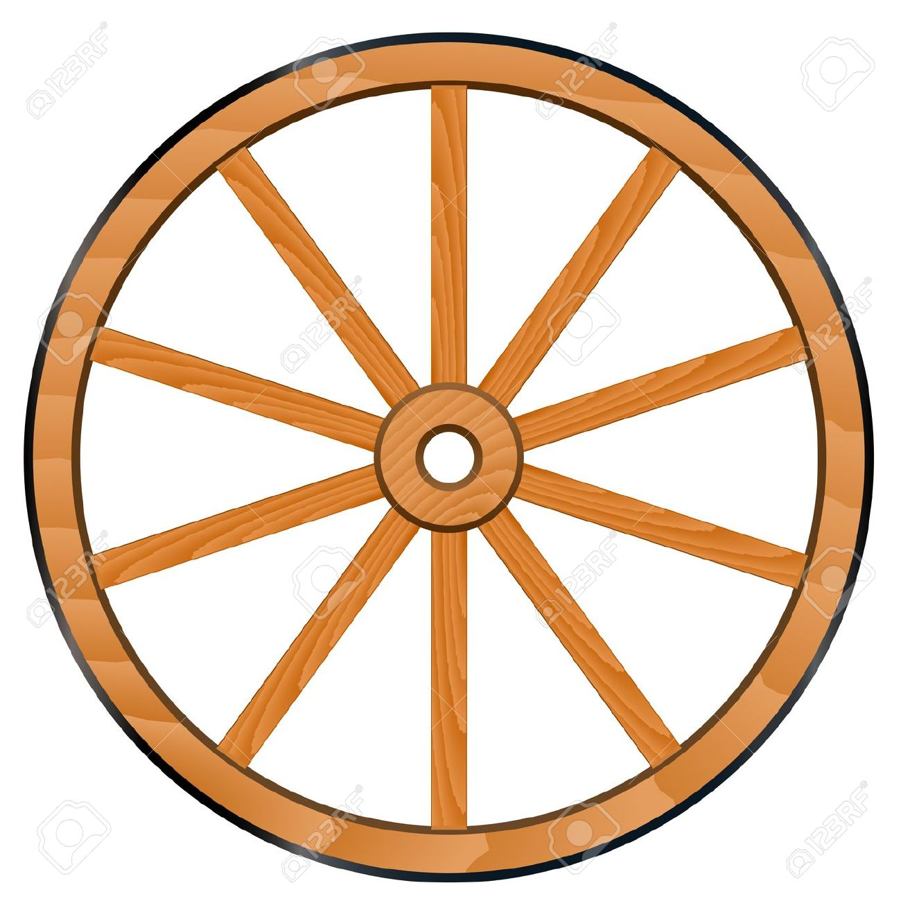 wagon wheel: vector old Wooden .