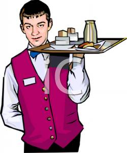 Waiter Clipart Young Waiter Wearing A Un-Waiter Clipart Young Waiter Wearing A Uniform Royalty Free Clipart-13