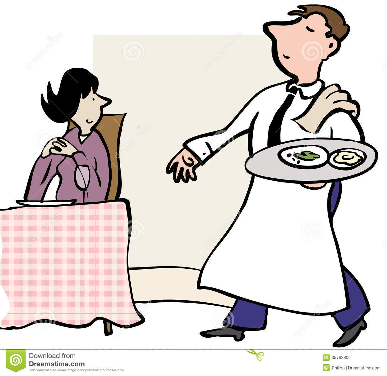 Waitress Serving Clipart .-Waitress Serving Clipart .-18