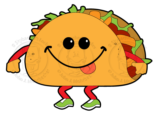 Walkin Taco Cartoon Royalty Free 15 00 Walking Taco Cartoon Royalty