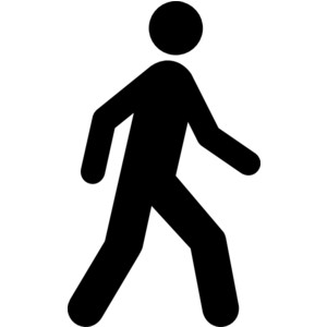 walking clipart