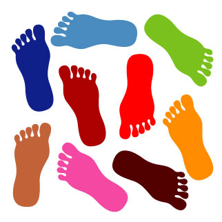 walking feet clipart