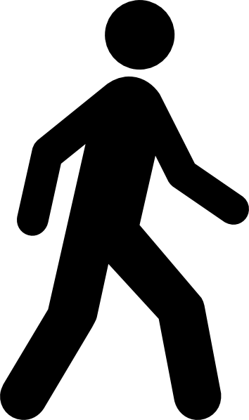 Walking Man Black clip art - vector clip art online, royalty free .