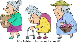 Walking Senior Women