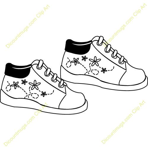 Walking Shoe Clip Art Tennis Shoes Walking Clipart