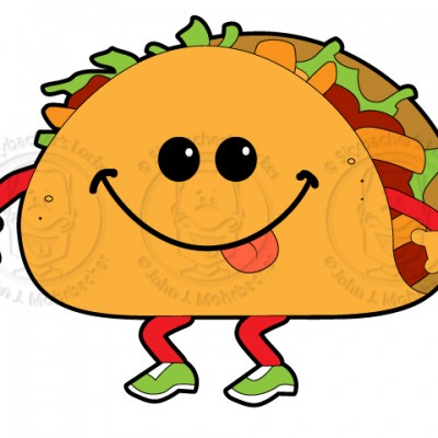 Walking Taco Taco Cartoon Wal - Taco Clip Art