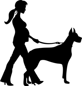 Walking The Dog Clipart Image-Walking The Dog Clipart Image-11