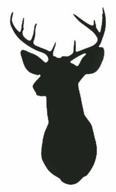 Wall Hugs Deer Silhouette Head .-Wall Hugs Deer Silhouette Head .-16