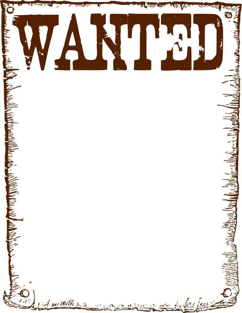 Wanted Poster Clip Art Clipart Best