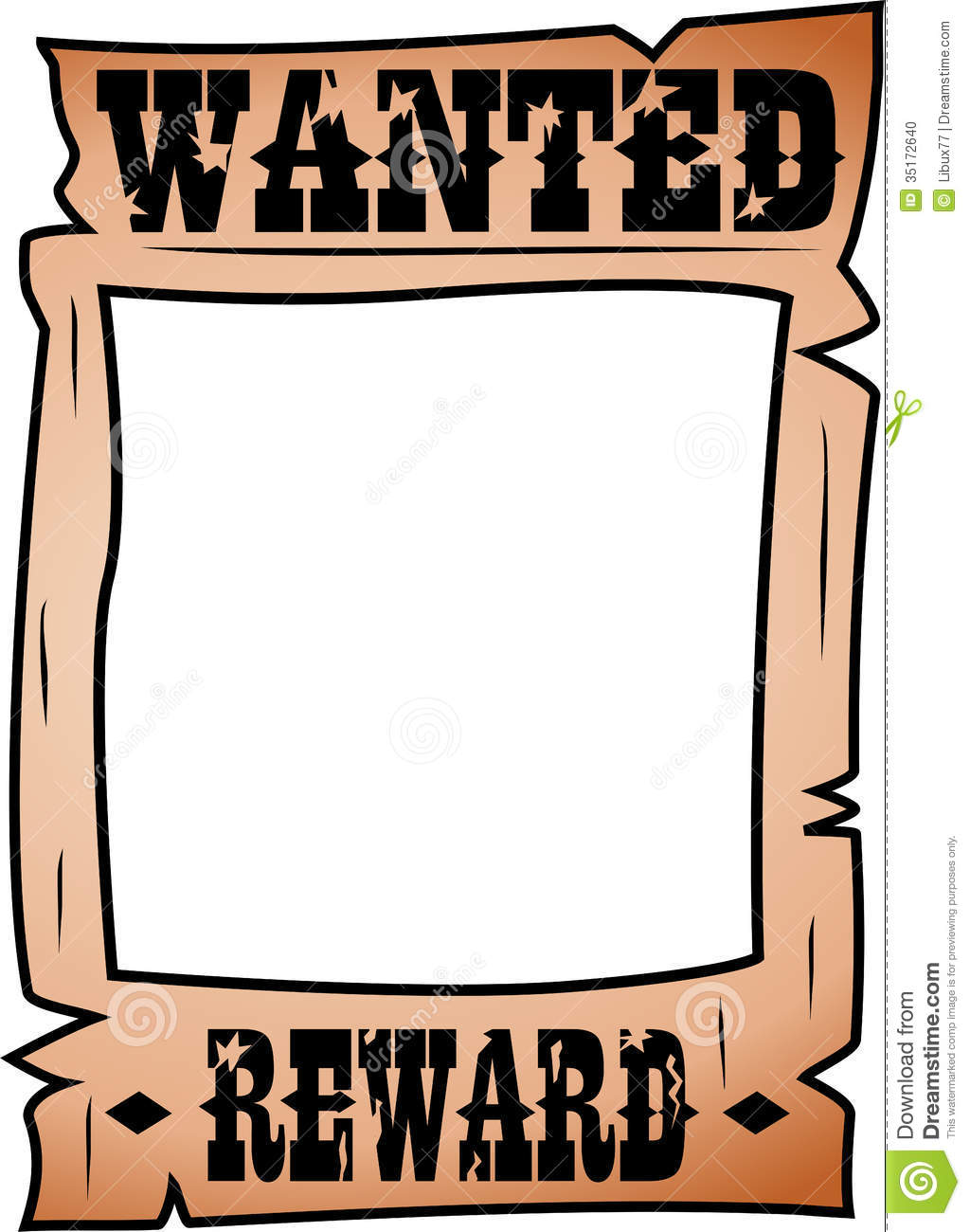 Wanted Poster Clipart Wanted Illustrations And Clipart
