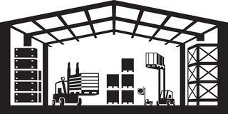 Industrial Warehouse Scene. Vector Illus-Industrial warehouse scene. Vector illustration Royalty Free Stock Photo-5