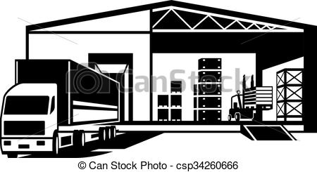 Truck Loaded Goods In Warehouse - Csp342-Truck loaded goods in warehouse - csp34260666-7