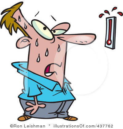 warm thermometer clip art
