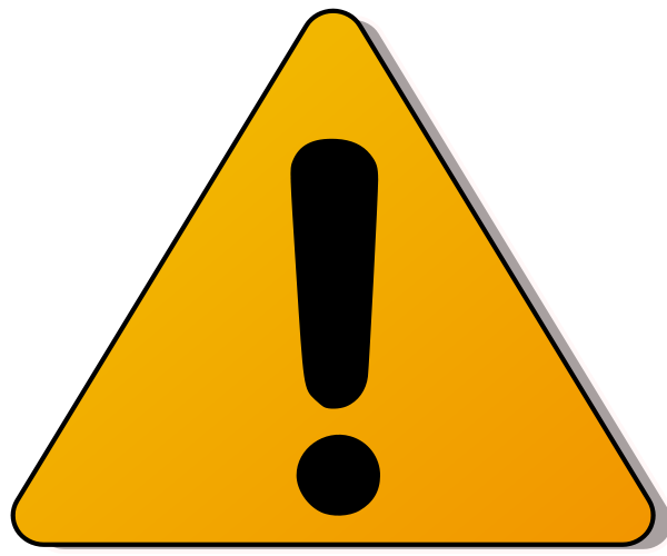 Warning Caution Clipart