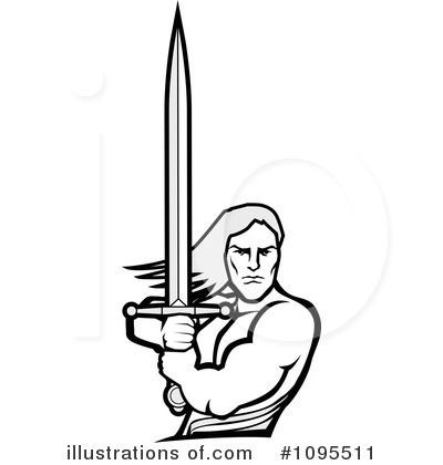 Warrior Clipart 1095511 Illustration By Bestvector