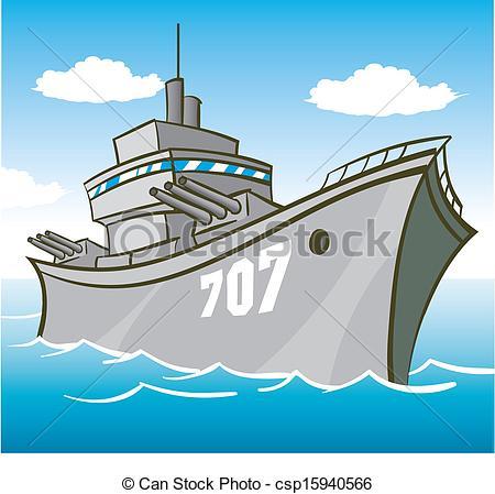 Warship Clipartby tshooter11/5,541; Batt-Warship Clipartby tshooter11/5,541; Battleship - battleship in water with guns pointed.-8
