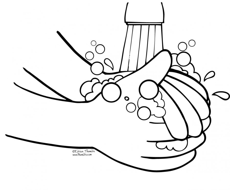 Wash Hands Clip Art Black And White - Cl-Wash hands clip art black and white - ClipartFox-12