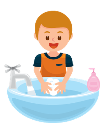 Washing Hands: Get Away Bacteria | Clipart